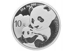 China 2019 10 Yuan Panda 1 Ounce zilver