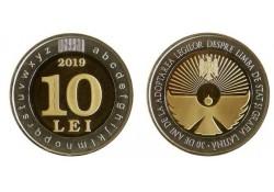 Moldavië 2019 10 Lei Unc State Language