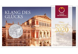 5 Euro Oostenrijk 2020 '150 jaar Wiener Musikverein'  Zilver