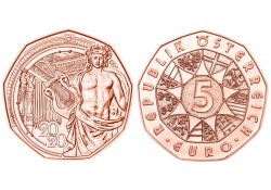 5 Euro Oostenrijk 2020 '150 jaar Wiener Musikverein' Unc