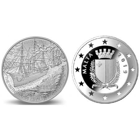 Malta 2019 10 Euro zilver Proof '150 jaar Suez Kanaal'