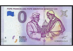 0 Euro biljet Vaticaan 2019 - Pope Francis and Pope Benedict XVI