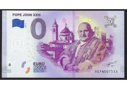 0 Euro biljet Vaticaan 2019 - Pope John XXIII