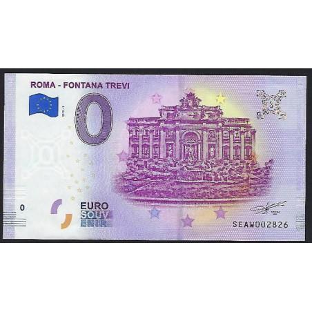 0 Euro biljet Italië 2019- Roma-Fontana Trevi