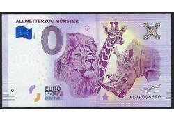 0 Euro biljet Duitsland 2018 - Allwetterzoo Münster