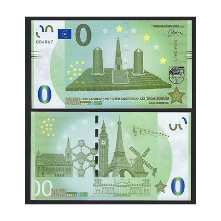 0 Euro biljet Nederland 2018 - Drie landenpunt Vaalserberg