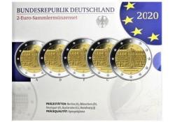 2 Euro Duitsland 2020 ADFG & J 'Brandenburg' Proof