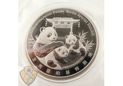 Panda World Money Fair Berlin 2019 Special Edition  Ziver proof 1 Ounce