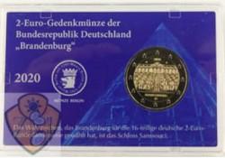 2 Euro Duitsland 2020 A 'Brandenburg'  Coincard Münze Berlin