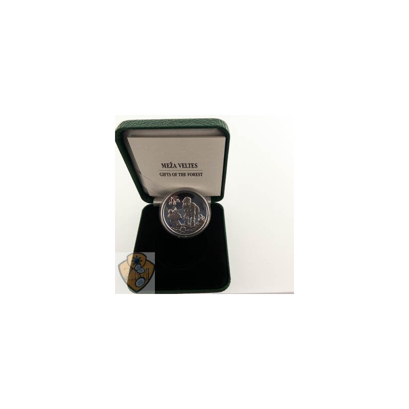 """Letland 2019 5 euro Zilver Proof """"Gift of the Forest'"""