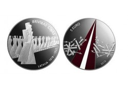 "Letland 2019 5 euro Zilver Proof ""Freedom Fights'"
