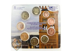 Bu set Spanje 2020 World Money Fair Berlin met 2 x 2 euro