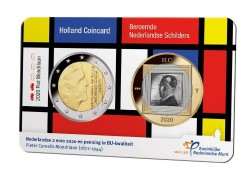 Nederland 2020 Holland coin Fair coincard thema Mondriaan
