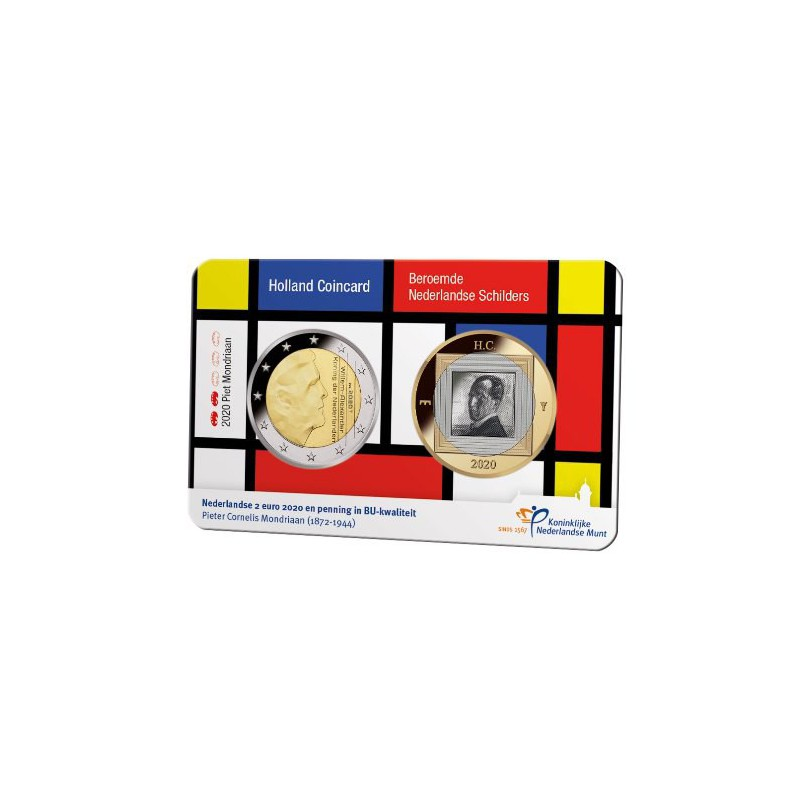Nederland 2020 Holland coin Fair coincard thema Mondriaan
