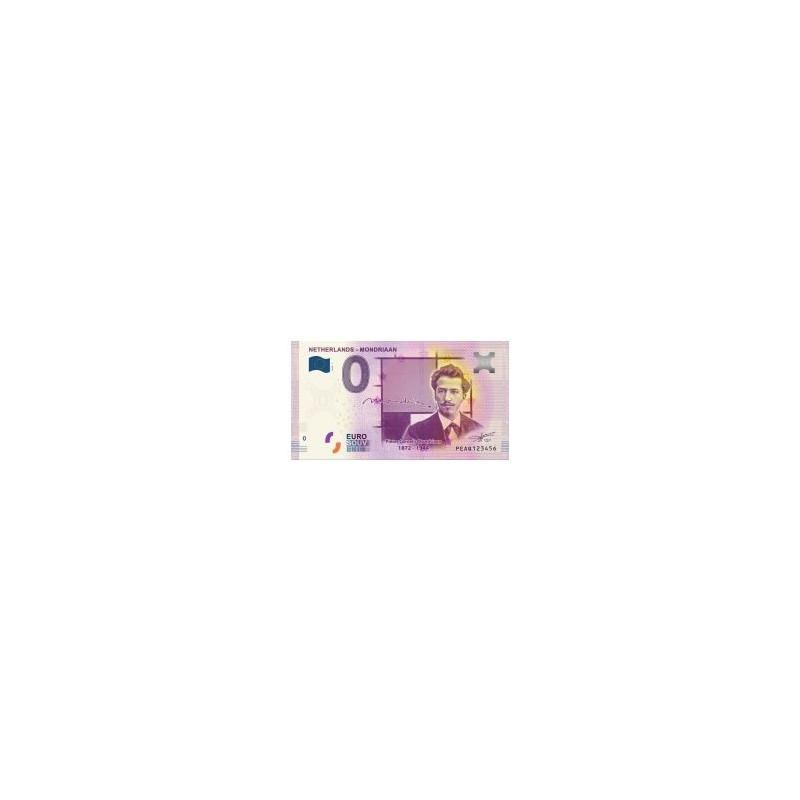 0 Euro biljet Nederland 2019 - Mondriaan