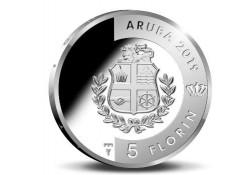 Aruba 2019 5 Florin 'Turtuga' Zilver Proof