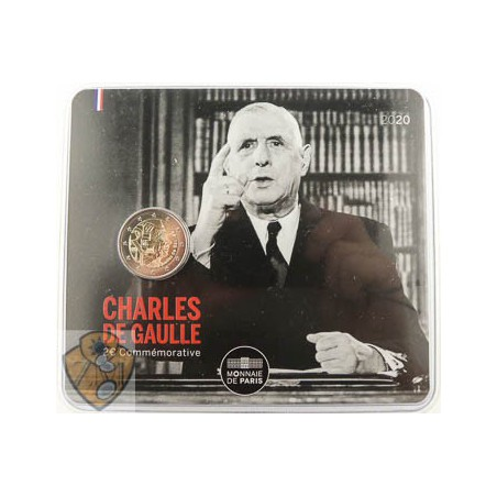 2 euro Frankrijk 2020 Charles de Gaulle Unc