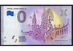 0 Euro biljet Vaticaan 2019 - Pope John Paul II