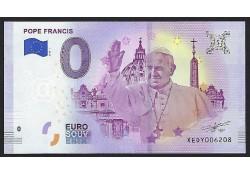 0 Euro biljet Vaticaan 2018 - Pope Francis