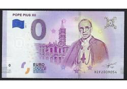 0 Euro biljet Vaticaan 2019 - Pope Pius XII