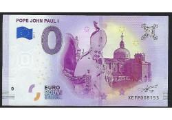 0 Euro biljet Vaticaan 2019 - Pope John Paul I