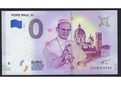 0 Euro biljet Vaticaan 2019 - Pope Paul VI