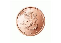 2 Cent Finland 2007 UNC