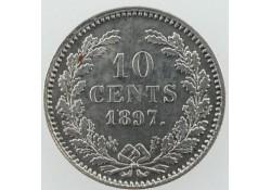 10 Cent 1897 Wilhelmina Pr