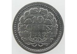 10 Cent 1919 Wilhelmina Zf