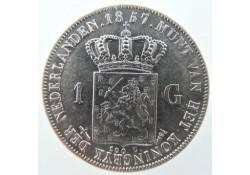 Nederland 1857 1 Gulden...