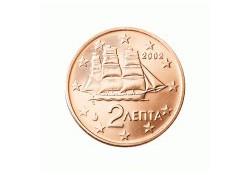 2 Cent Griekenland 2002 UNC met letter F