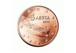 5 Cent Griekenland 2002 UNC met letter F