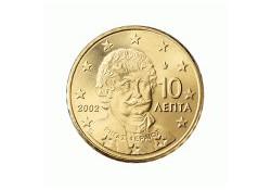 10 Cent Griekenland 2002 UNC met letter F