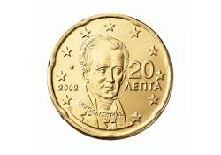 20 Cent Griekenland 2002 UNC met letter E