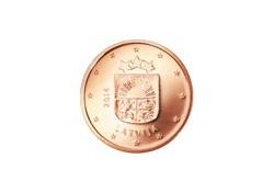 1 Cent Letland 2014 UNC