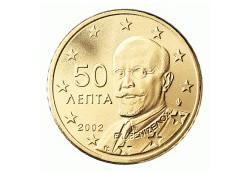 50 Cent Griekenland 2002 UNC met letter F