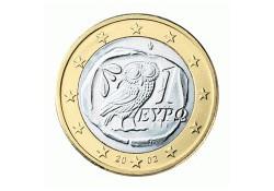 1 Euro Griekenland 2002 UNC met letter S