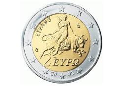 2 Euro Griekenland 2002 UNC met letter S