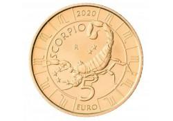 San Marino 2020 5 Euro Zodiac-Schorpioen Unc