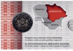 2 Euro Litouwen 2020 Aukstaitija Bu in coincard