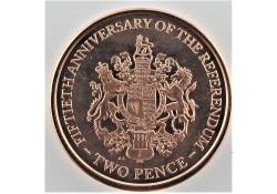 Gibraltar 2017 2 Pence Unc...