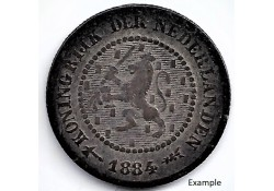 Nederland 1884 ½ Cent...