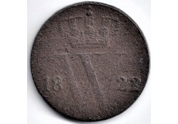 Nederland 1822 B ½ Cent...