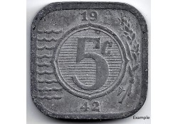 Nederland 1942 5 Cent...