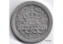 Nederland 1908 5 Cent...