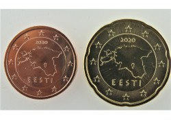 Serie Estland 2020 2 & 20 cent