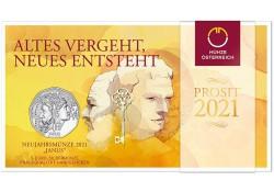 Oostenrijk 2021 5 Euro  'Janus' Zilver