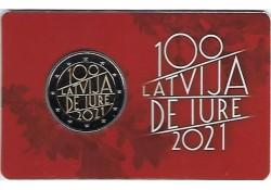 2 euro Letland 2021 '100...