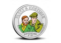 België 2021 5 euro '75 jaar Blake & Mortimer' Unc gekleurd