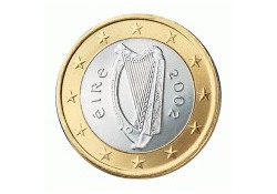1 Euro Ierland 2002 UNC